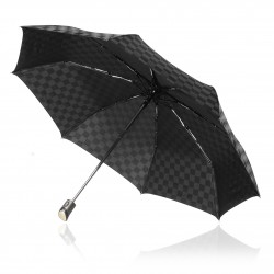 Black Trident Checkmate Vented Windproof Golf Umbrella