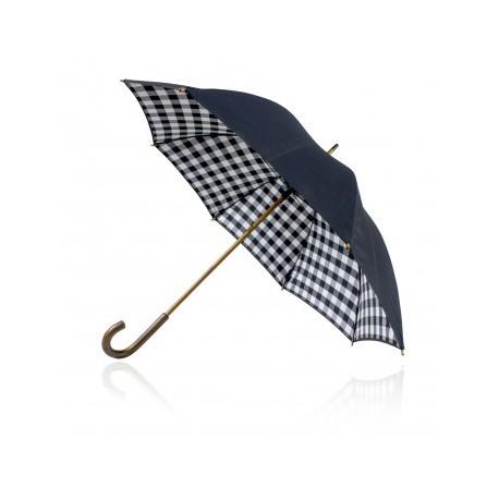 Shelta 58cm Double Canopy Black Check Umbrella